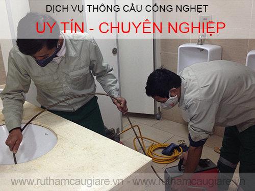 Dịch vụ thông cống nghẹt Saigon giá rẻ uy tín. ĐT: 0904.555.023
