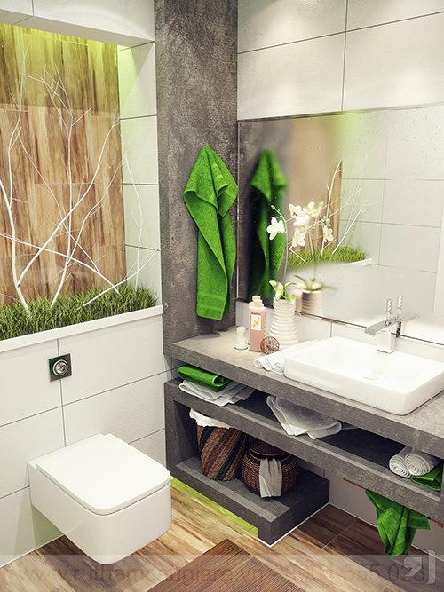 Mẫu nhà tắm đẹp với diện tích nhỏ 07