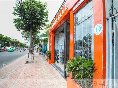 Bên ngoài một nhà vệ sinh công cộng miễn phí ở Đà Nẵng