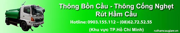 Rút hầm cầu quận Tân Phú giá rẻ, chuyên nghiệp
