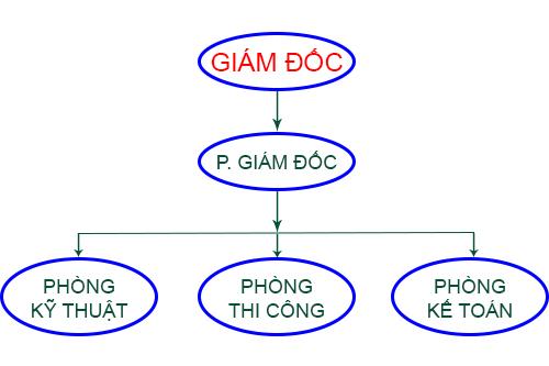 Sơ đồ tổ chức của Công ty TNHH TM & DV xử lý chất thải Sài Gòn